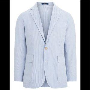 New Polo Ralph Lauren Seersucker Blazer Jacket M